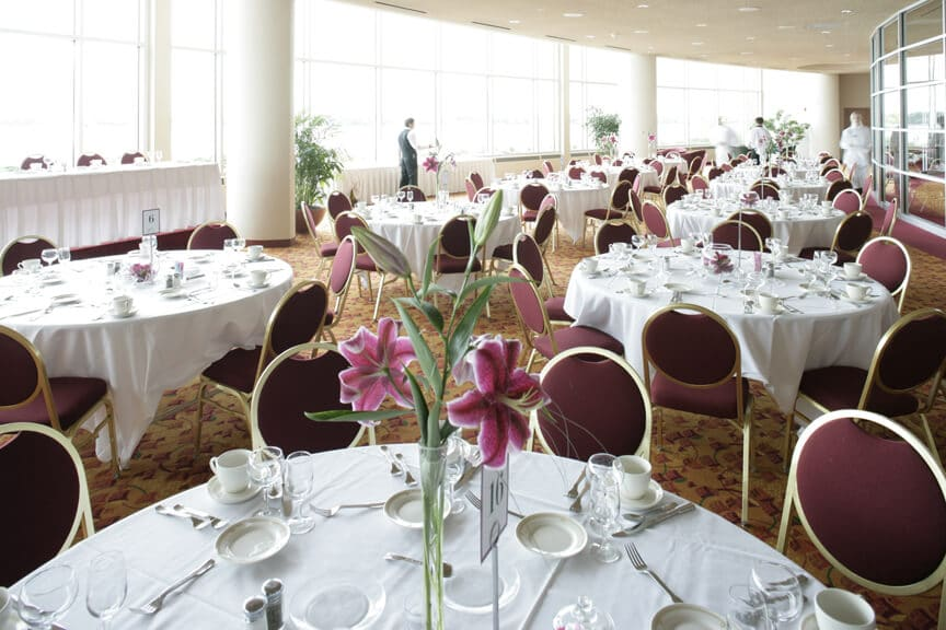 Reception set at Monona Terrace