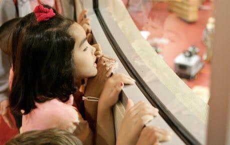 Monona Terrace Child looking through Window