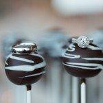 wedding rings on top of candies