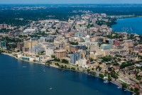 Monona Terrace and the Isthmus of Madison, WI