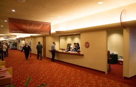 Monona Terrace Registration Counter