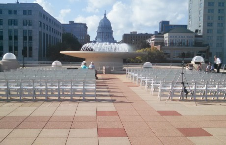 Monona Terrace Rooftop Wedding