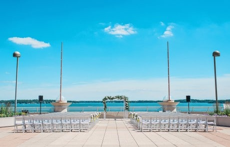 Monona Terrace Lakeside Rooftop Wedding