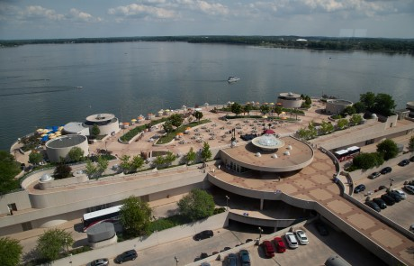 Monona Terrace Rooftop High Elevation View