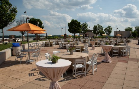 Monona Terrace Rooftop Cocktail Tables